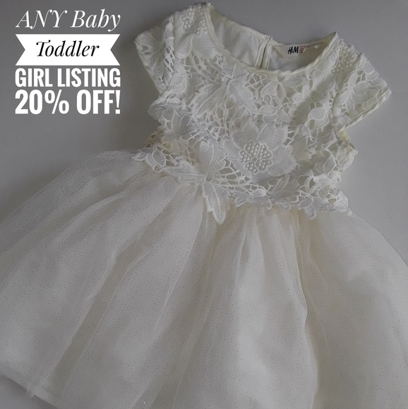 H&M Dresses | Sale Nwot Christening Baptism Dress Formal Wedding ...